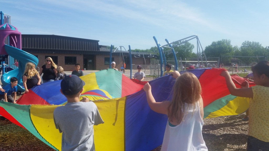 Mitchell fourth grade students  in Amanda McGonigle's class enjoy being active.