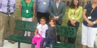Leadership Ames class presents Buddy Bench to Edwards School