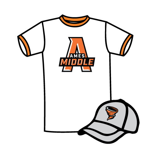 Ames middle school shirt and cap