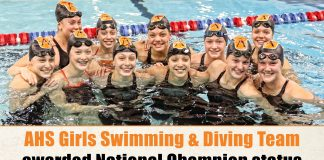 AHS Girls Swimming & Diving Team awarded National Champion status