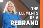 Elements of a Rebrand graphic