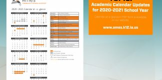 Revised 2020-2021 School Year Calendar Approved (August 28, 2020)